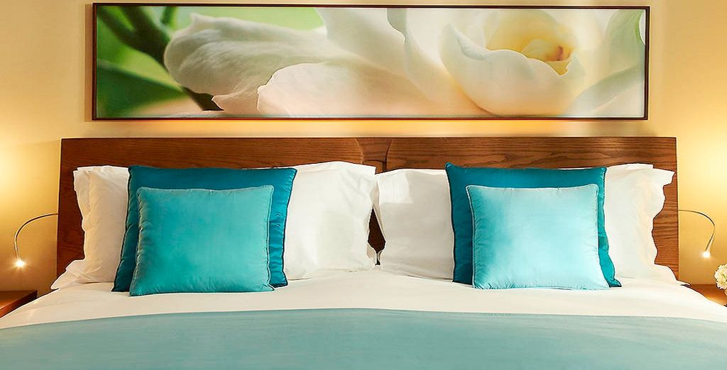Soggiornerete in eleganti camere Luxury vista Palm Jumeirah