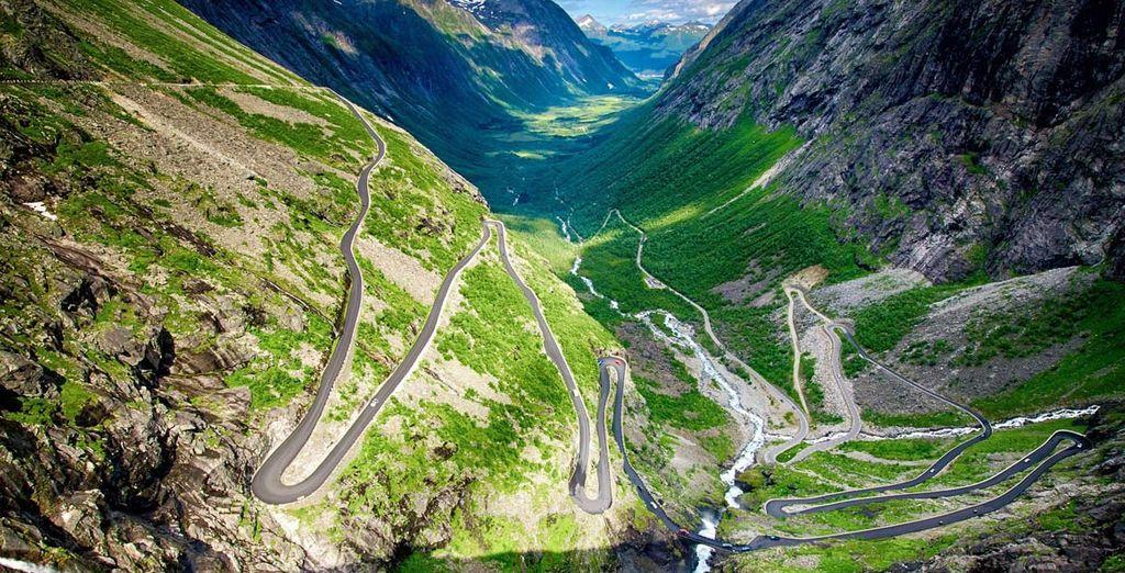 e ammirate il Geirangerfjord e la Strada dei Troll dall'alto
