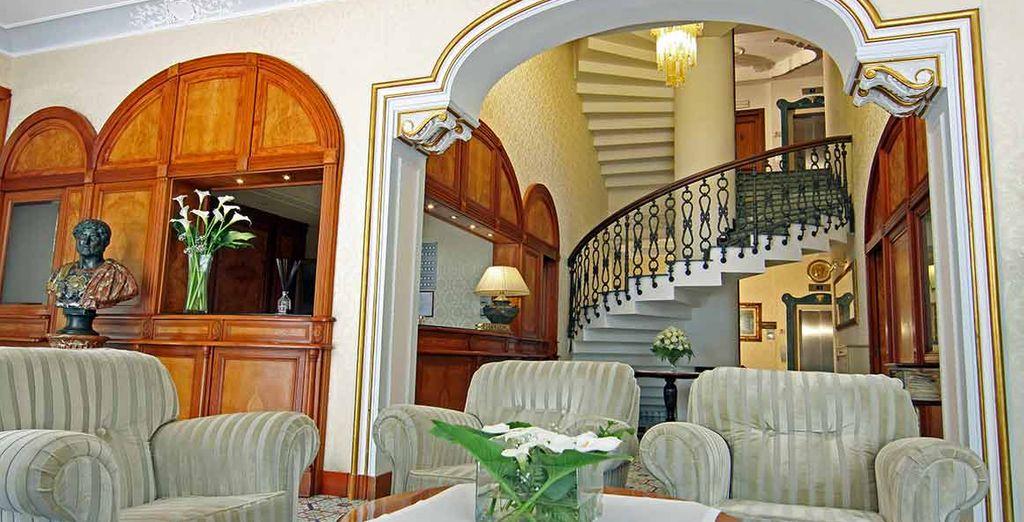 Entrate in un'antica villa settecentesca in stile liberty
