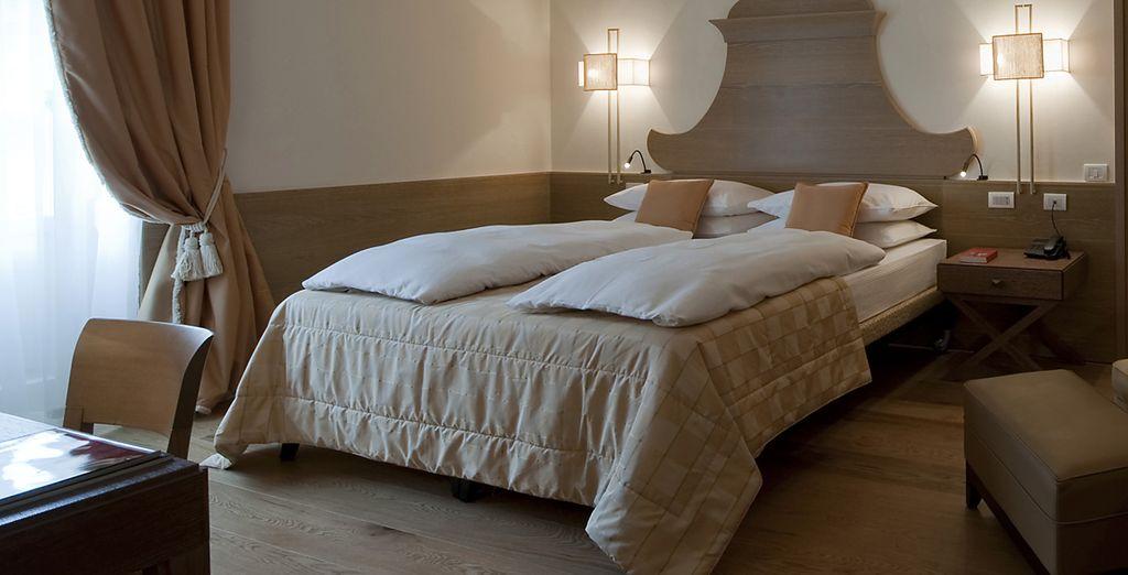 A seconda dell'occupazione potete soggiornare nelle eleganti Camere Comfort