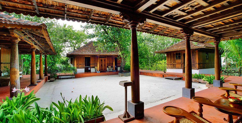 La Ginger SPA è circondata da palme da cocco e spiagge bianche e si compone di quattro casette di legno d'epoca