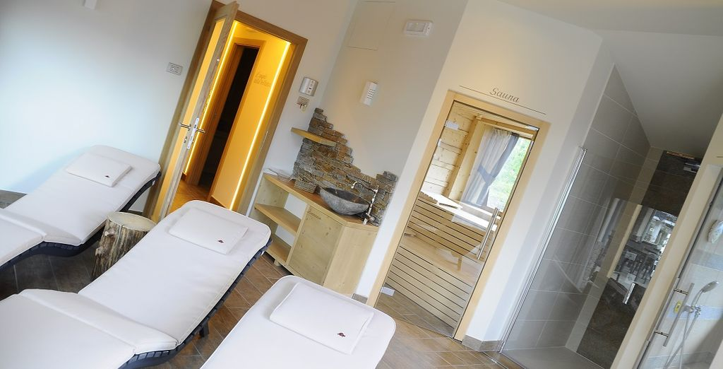 La spa e il suo percorso rigenerante vi offriranno il massimo relax dopo una giornata in montagna