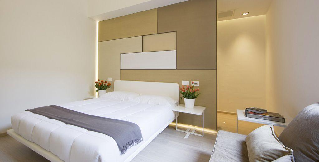 Rilassatevi nella vostra moderna e luminosa camera