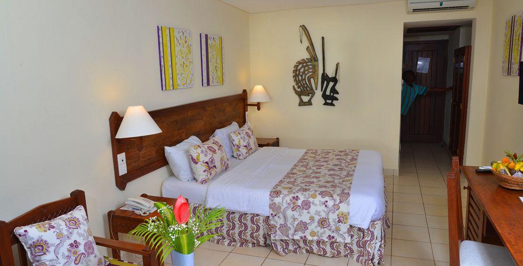Le camere standard negoziate per voi sono luminose e arredate secondo lo stile tradizionale del posto