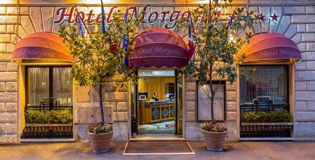 presso l'hotel Morgana, nel cuore della capitale