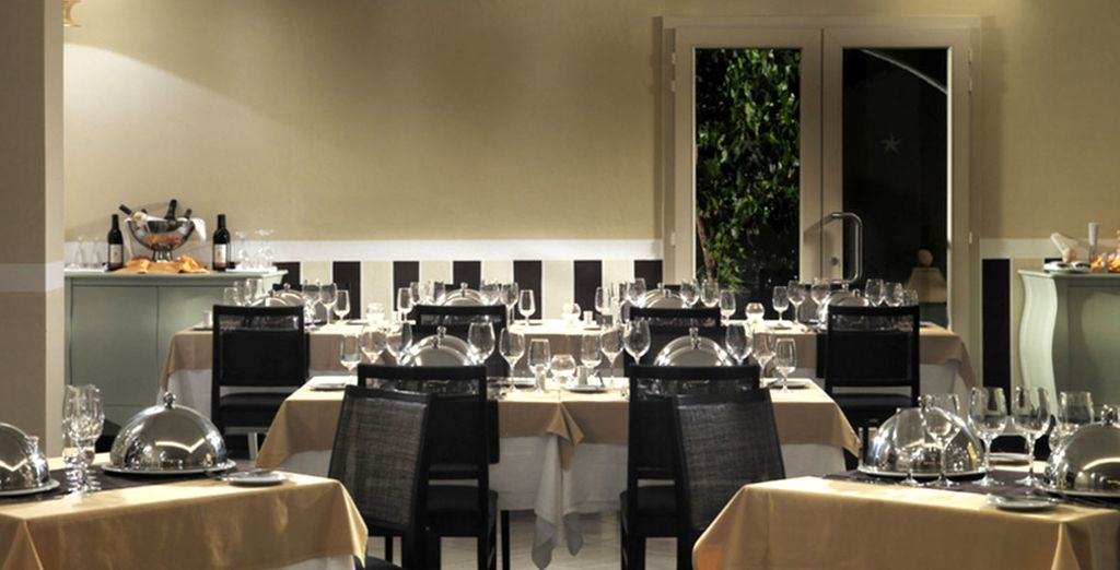 Il ristorante tematico propone per cena un menù degustazione