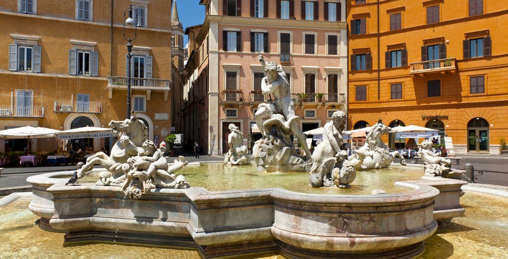 Le incantevoli piazze e fontane di Roma
