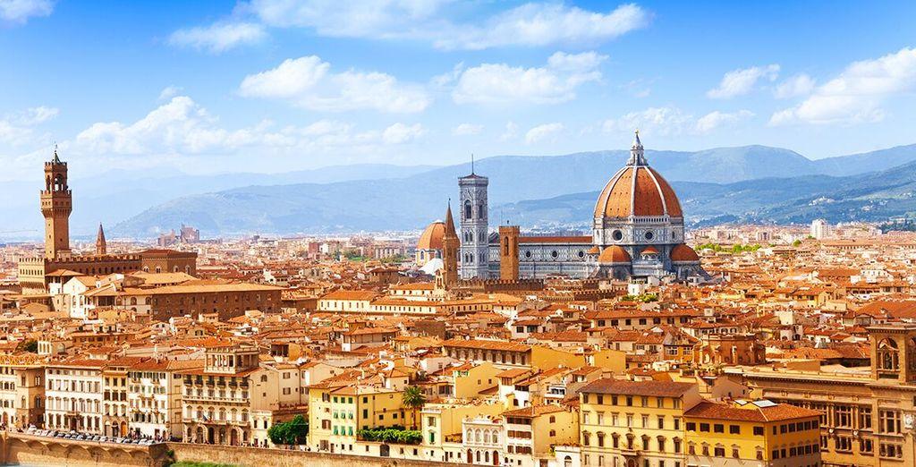 Fotografia della bellissima città italiana, di Firenze e dei suoi monumenti storici