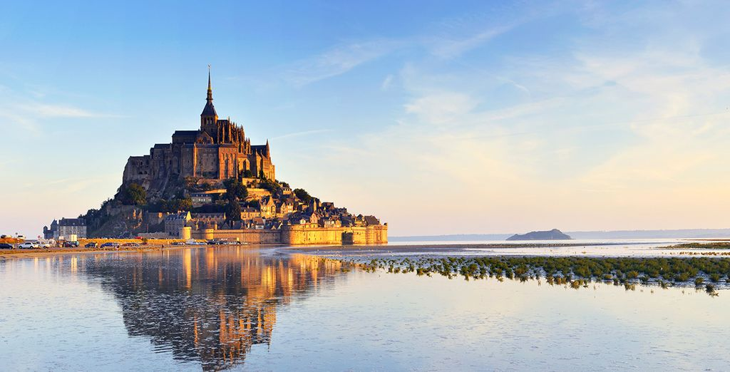 Fotografia di Mont Saint Michel in Normandia