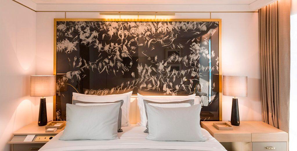 Hotel di lusso a cinque stelle con tutti i comfort e camere doppie nel cuore di Barcellona