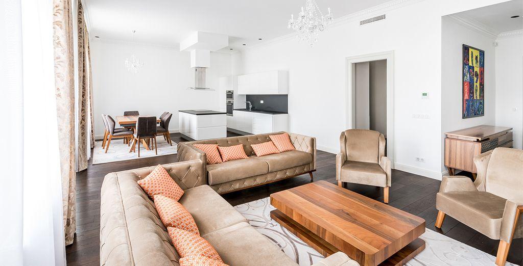 Hotel / appartamento di lusso con cucine, salotti e vista sulla città di Budapest