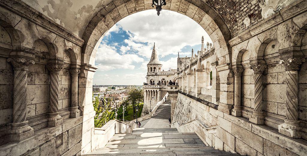 Fotografia dei monumenti storici imperdibili di Budapest nel quartiere Ebraico