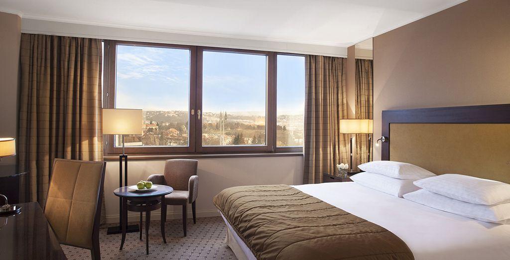 Hotel di alta gamma nel centro di Praga, camera doppia con tutti i comfort vicino a tutte le attività