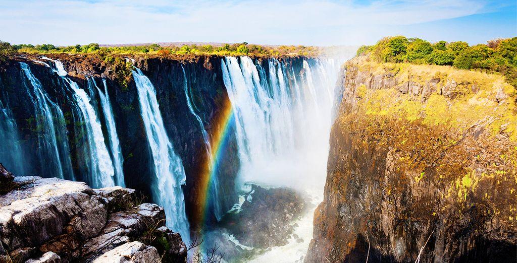 Cascate e paesaggio della Namibia