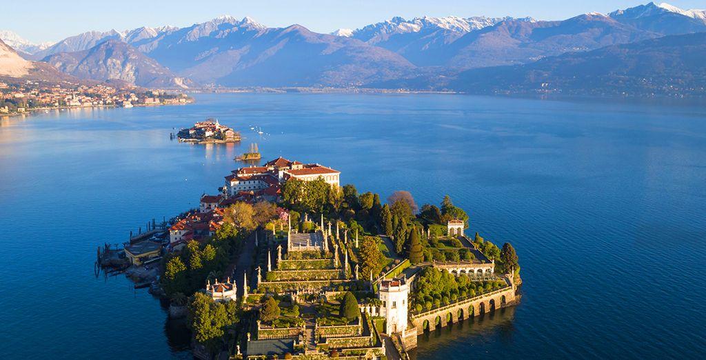 Paesaggio di Varese in Italia nella splendida regione Lombardia e il suo lago di Varese