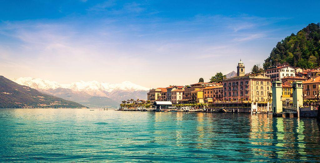 Fotografia della città di Varese in Italia e delle sue case colorate