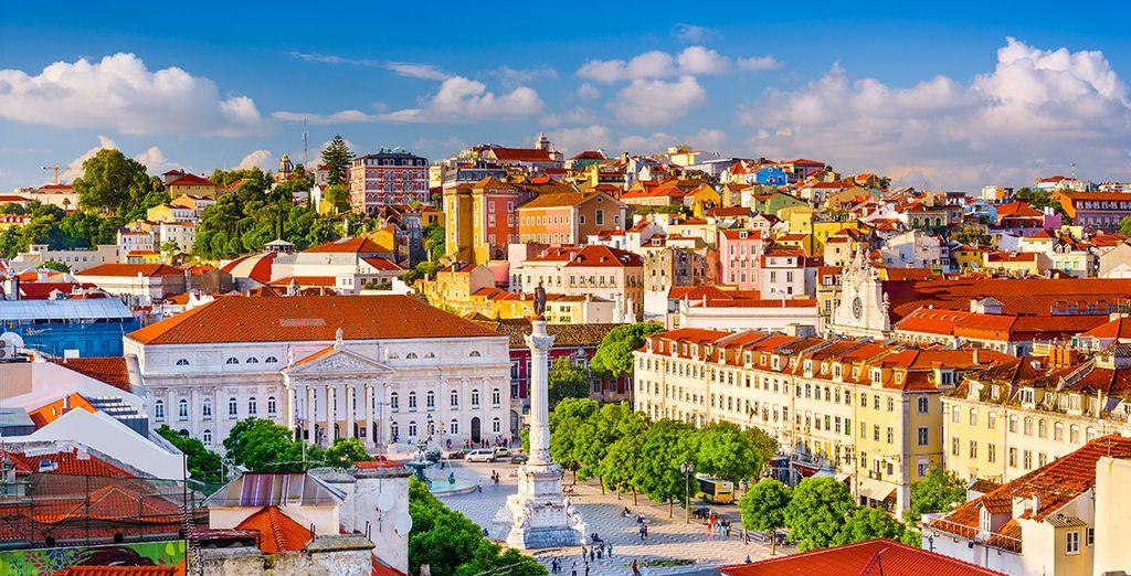 Fotografia della città di Lisbona, capitale del Portogallo