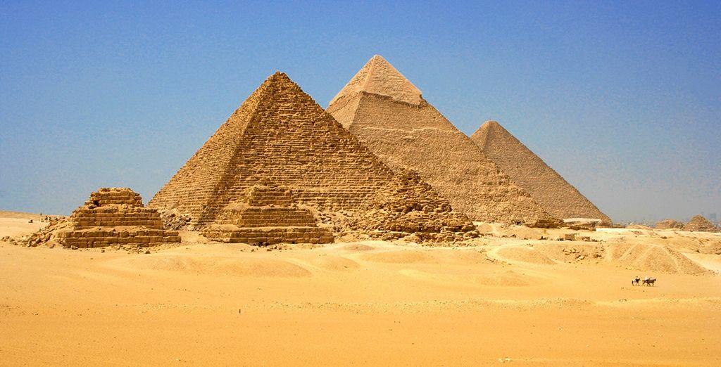 Fotografia delle piramidi egiziane