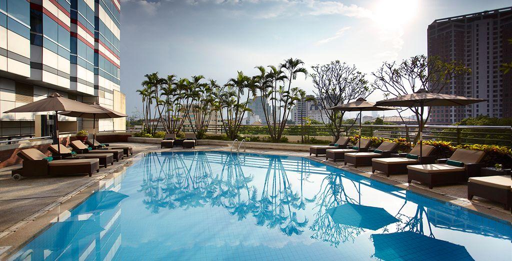 Hotel di lusso in Vietnam con piscina e zona relax
