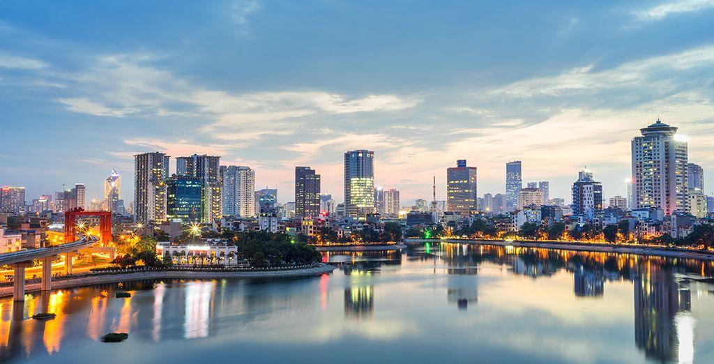 Fotografia della città di Hanoi