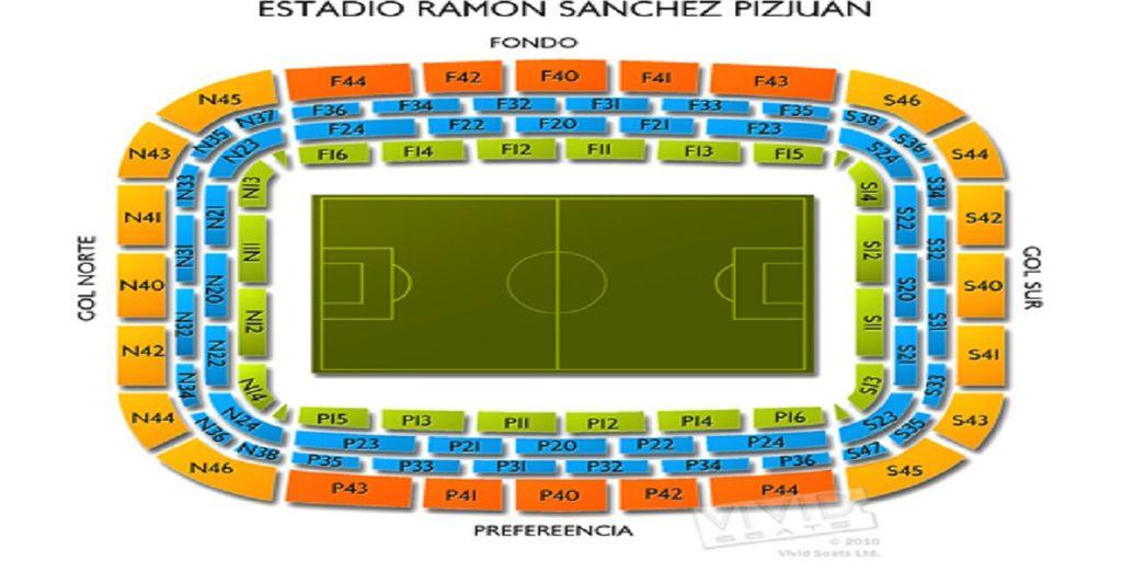 nella splendida cornice dello Stadio Ramón Sánchez-Pizjuán di Siviglia