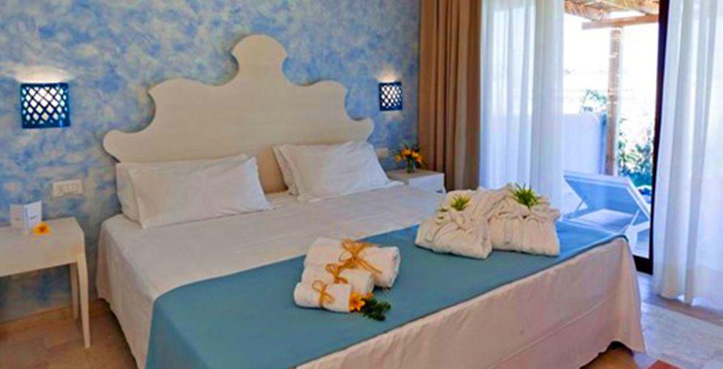 O nella vostra camera Villas, elegante e spaziosa