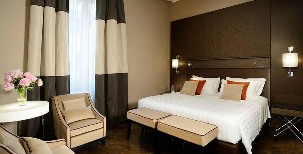 Hotel di lusso a quattro stelle con tutti i comfort, letto matrimoniale e vicino a tutte le attività