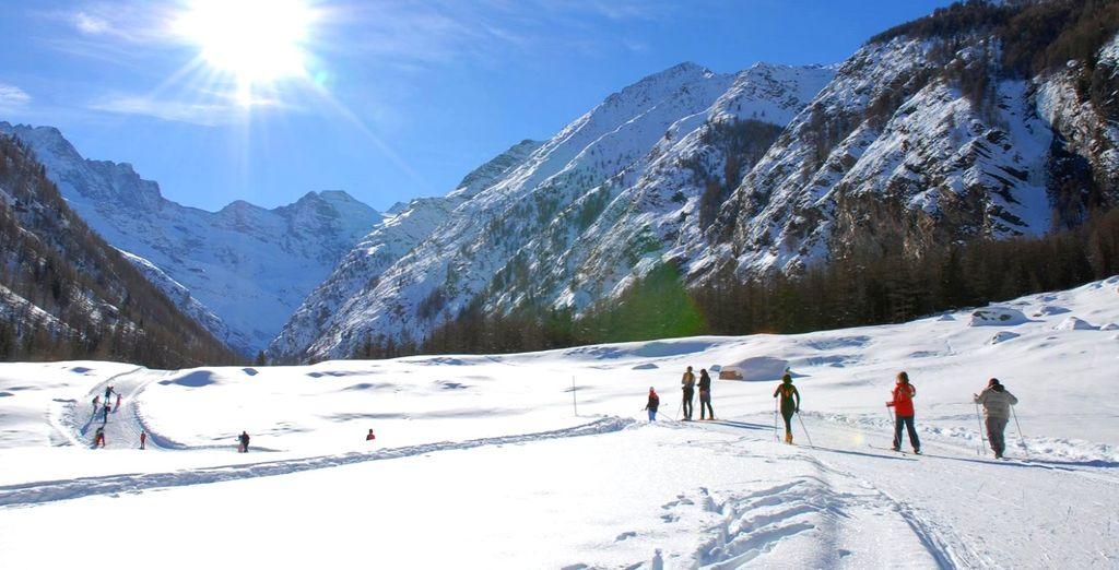 Paesaggio delle Alpi nel cuore del Parco Nazionale del Gran Paradiso