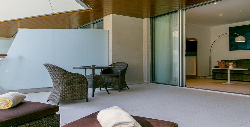 o in camere Superior vista piscina