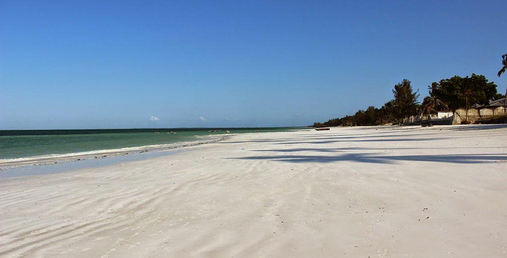 Con la sua sabbia bianca