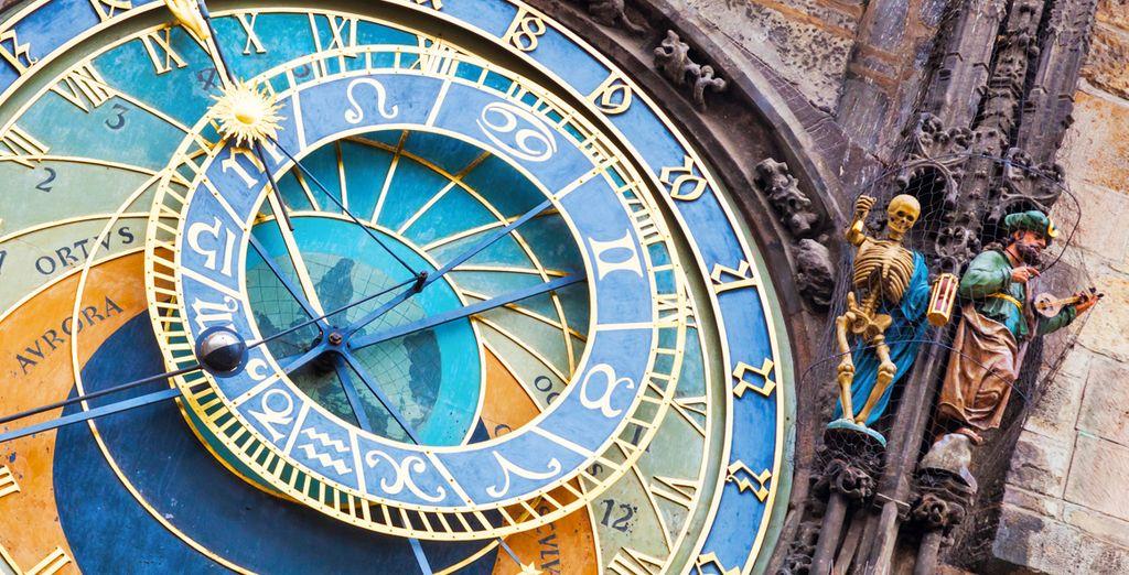 Fotografia della Holorga astronomica di Praga in Repubblica Ceca