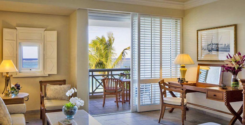 Soggiornerete in confortevoli camere Colonial Ocean View