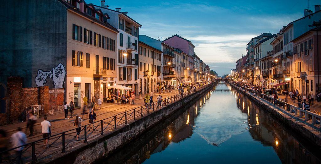 Fotografia della città di Milano in Lombardia, Italia