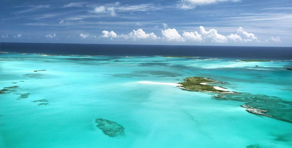 Fotografia delle Bahamas dall'alto