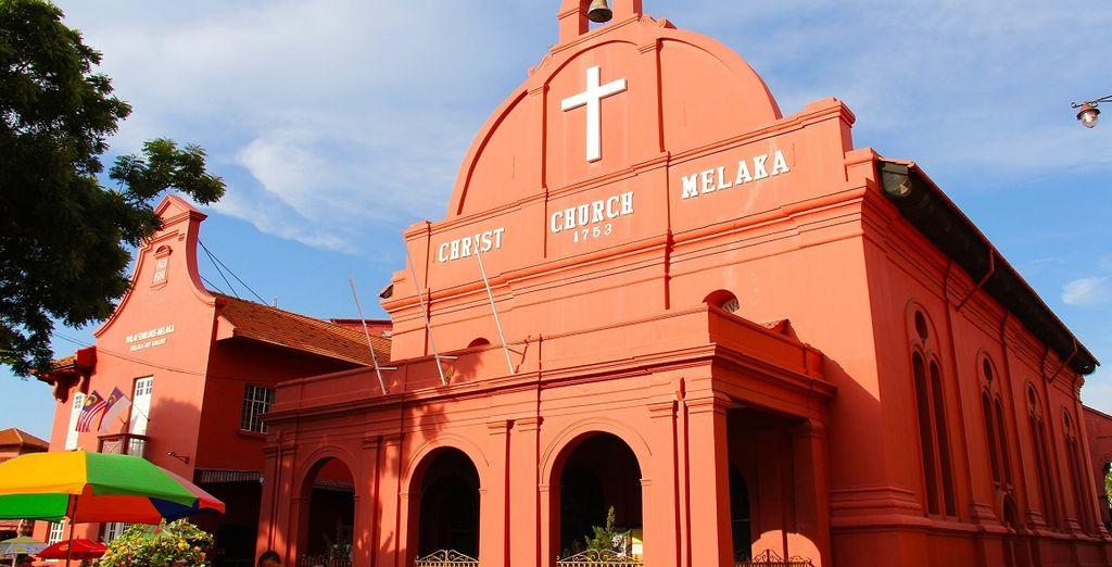 La chiesa cristiana nel centro del paese