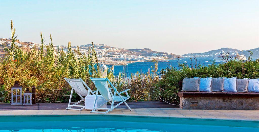 Rilassatevi ammirando la splendida vista di Mykonos
