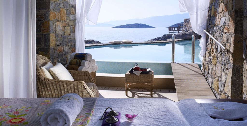 e rilassarvi con esclusivi massaggi mentre ammirate il panorama