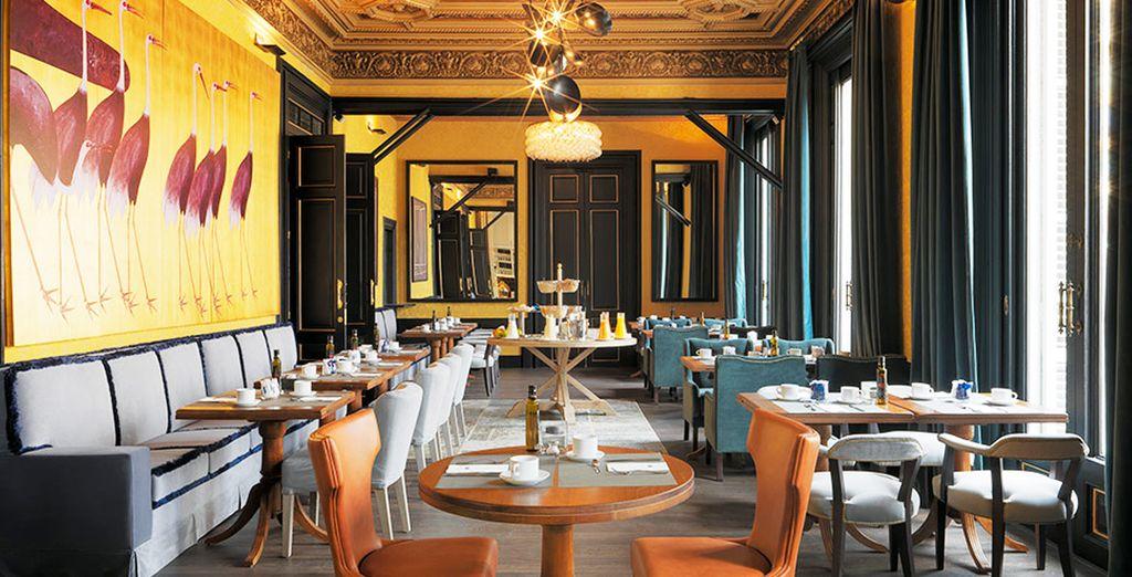 Il ristorante è un luogo informale e di design