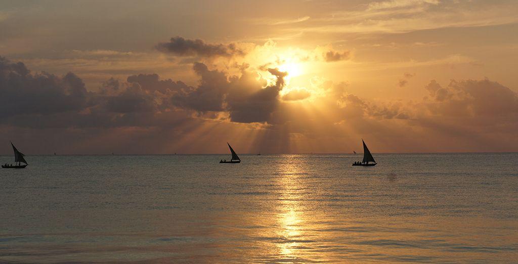 e gli splendidi tramonti dell'isola
