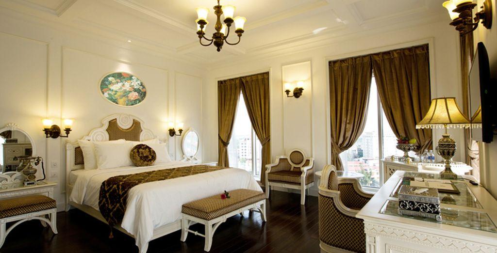 A Hue, nell'Eldora Hotel 4* alloggerete in eleganti Camere Deluxe vista città