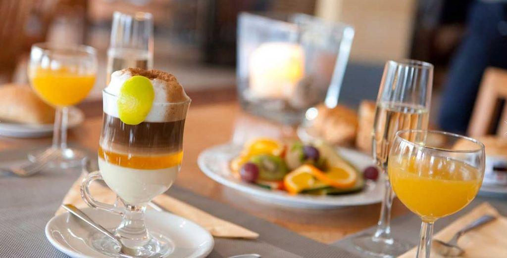 Con il supplemento di prima colazione potrete approfittare del ricco buffet ogni mattina