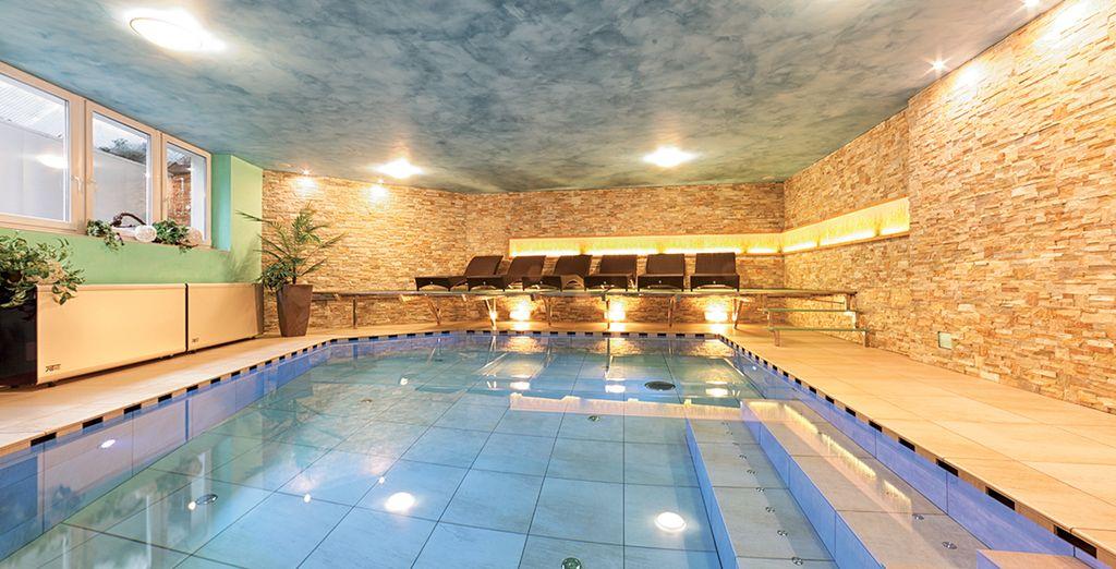e la piscina riscaldata per il vostro relax