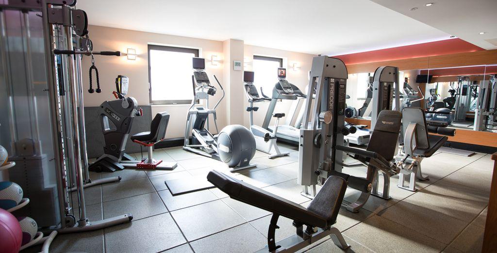 gli amanti del fitness potranno usuffruire della palestra