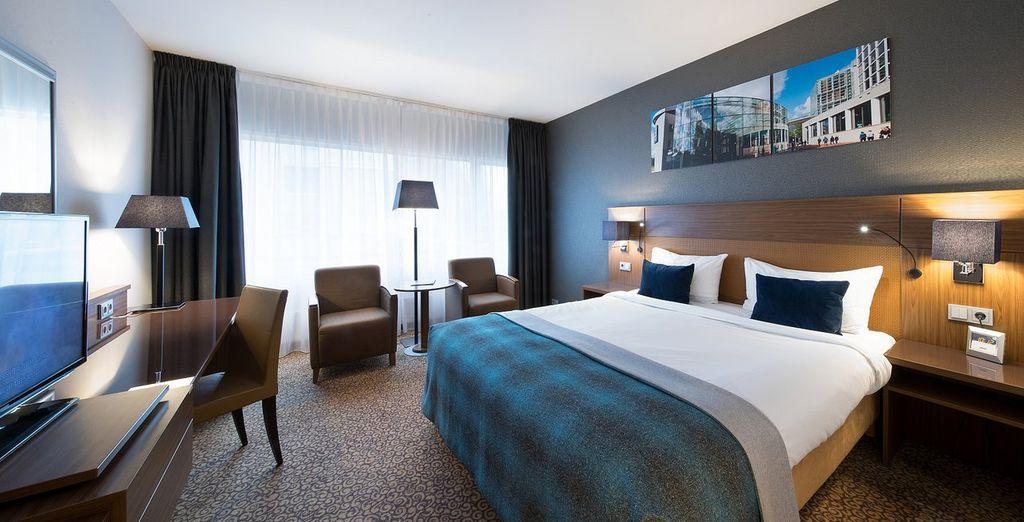 Hotel di lusso a 5 stelle con spaziosa camera doppia e ogni comfort, vicino a tutte le attività