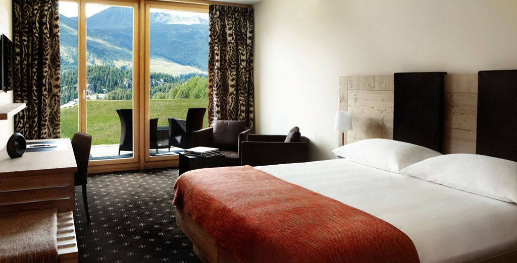 De Tuinkamer biedt u een adembenemend uitzicht over de vallei
