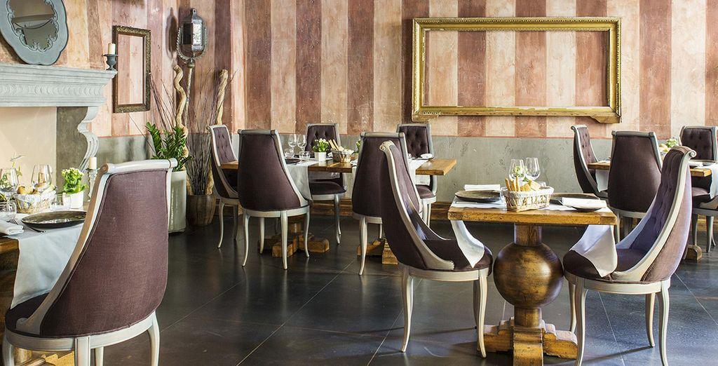 Het Restaurant La Pescheria met zijn elegante sfeer
