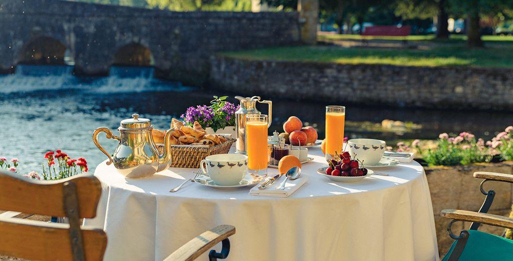 Een heerlijk ontbijt wacht elke ochtend op u