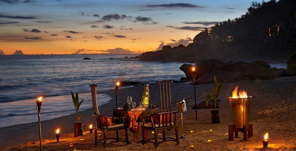 In een romantische en chique omgeving