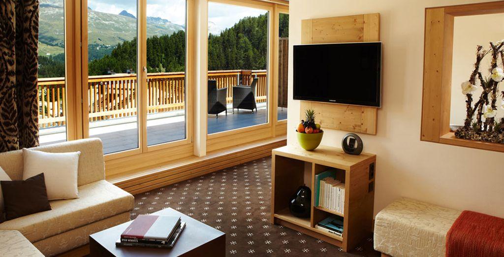 De ruime Alpine Junior Suite is de perfecte kamer voor een onvergetelijke vakantie