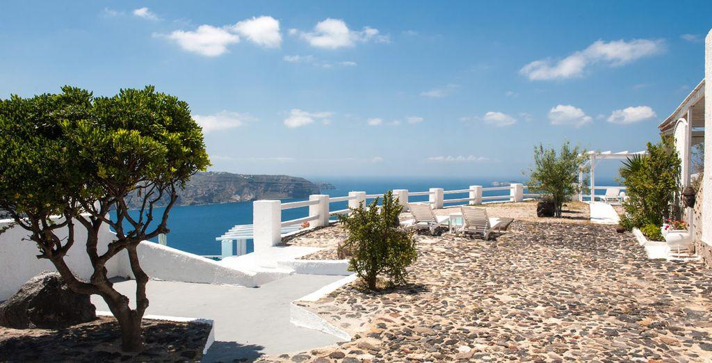 Op het prachtige Santorini